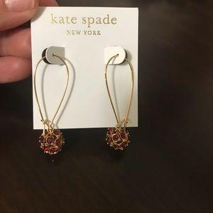 NEW Kate Spade Wire Disco Ball Marmalade Earrings